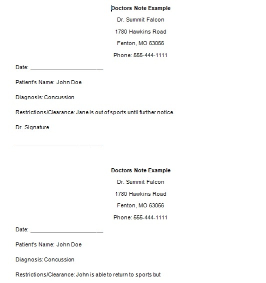 Dr Note Template Free from www.bestcollections.org
