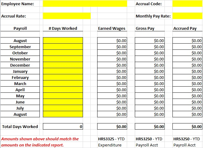 6 Payroll Template Free Excel And Word Format Best