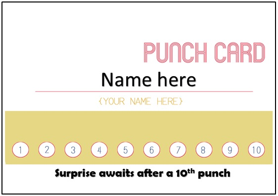 Printable Punch Card Template In Microsoft Word Format Bestcollections