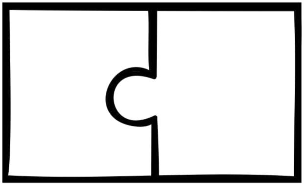 2 piece puzzle template