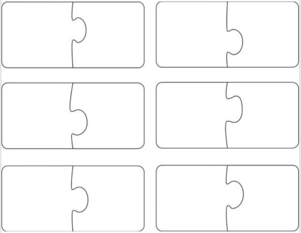 6 piece puzzle template