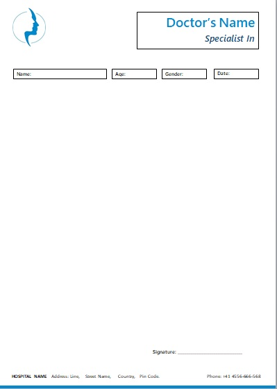 editable prescription template
