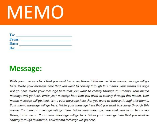 memo template free download