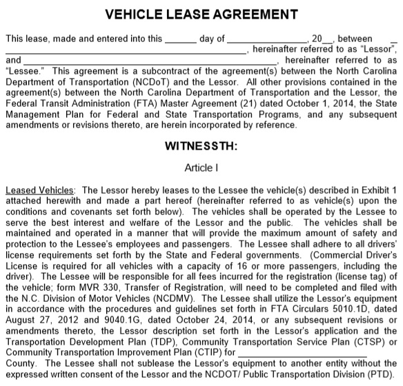 commercial vehicle lease agreement pdf