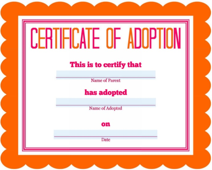 adoption form template