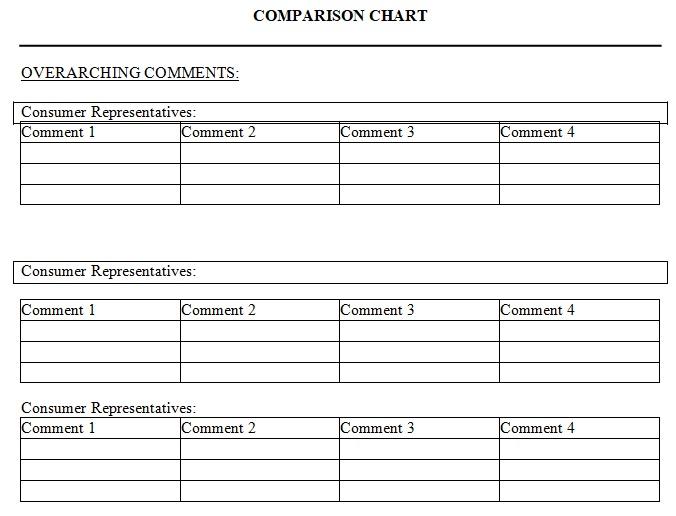 blank comparison chart template
