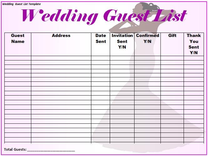blank guest list template