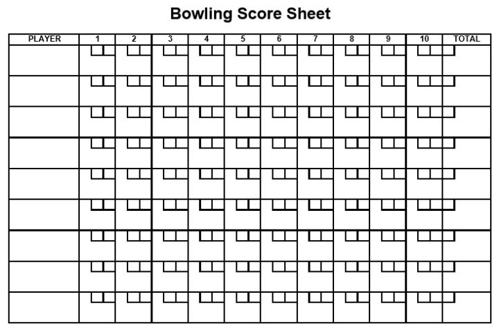 bowling score sheet