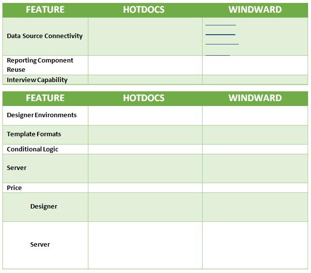 comparison report template word