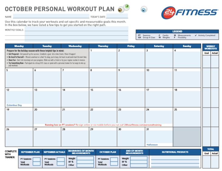 free printable workout log sheet pdf