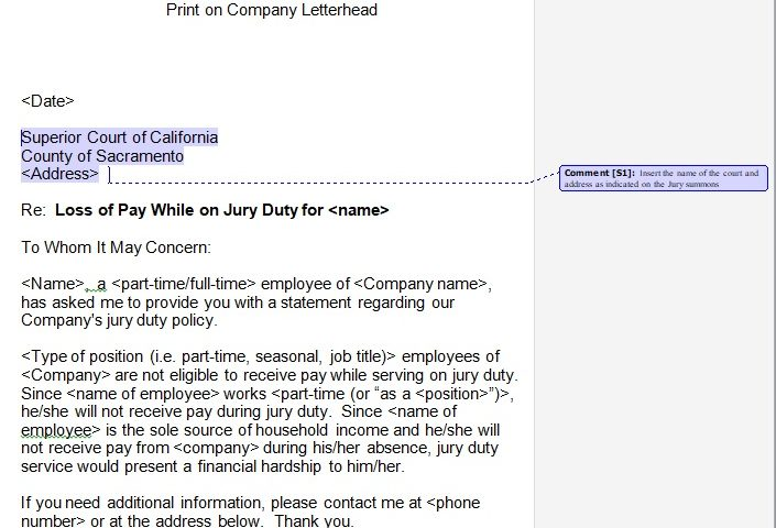 Jury Duty Excuse Letter Employer from www.bestcollections.org