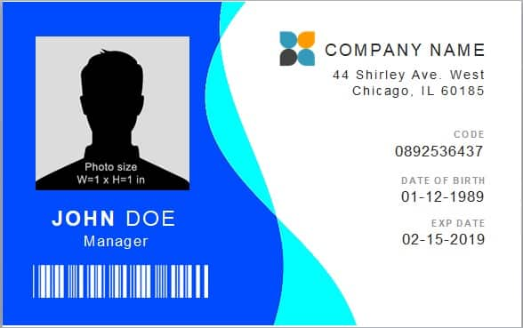 company id card template