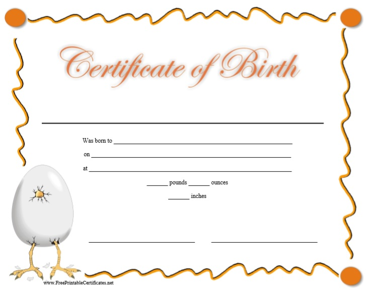 fillable birth certificate template