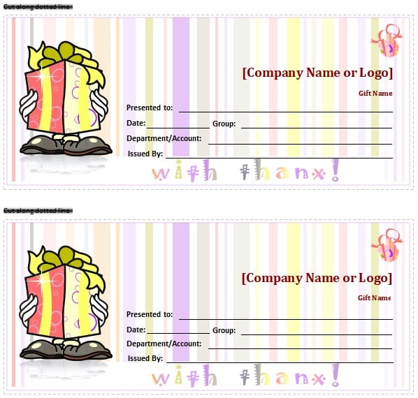 free printable gift certificate
