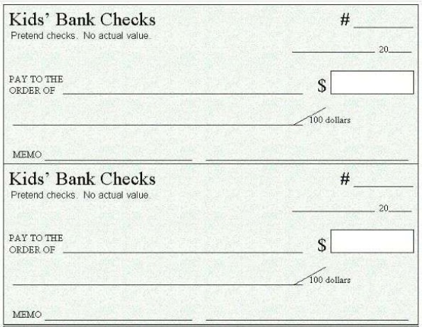 chase blank check template