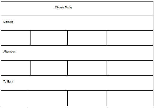 chore chart template for family