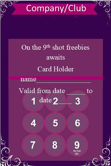 rewards card template free