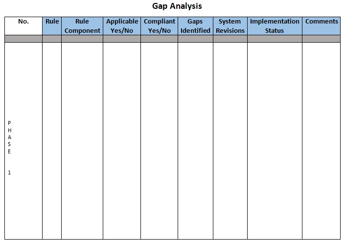 sample gap analysis document