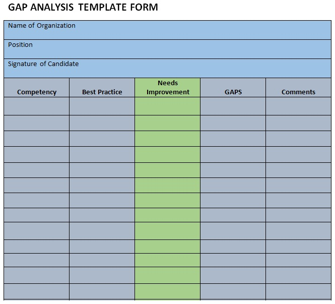 fit gap analysis template