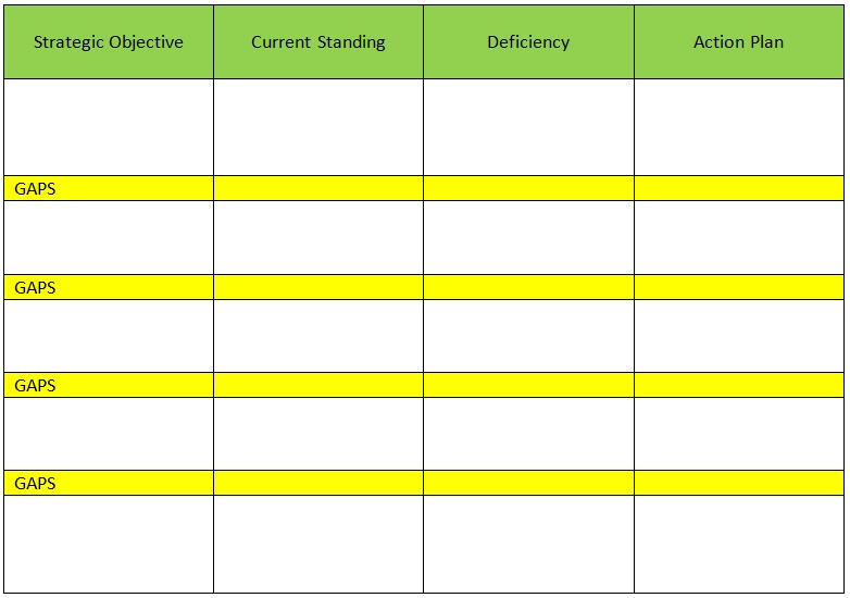 gap assessment template