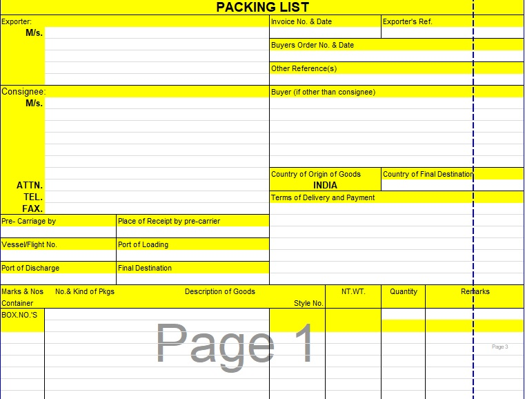 family holiday packing list template