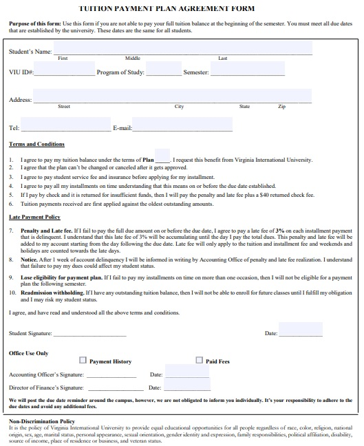 payment agreement template pdf