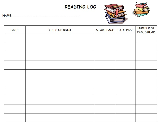 free printable daily reading log