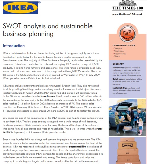 swot analysis template pdf