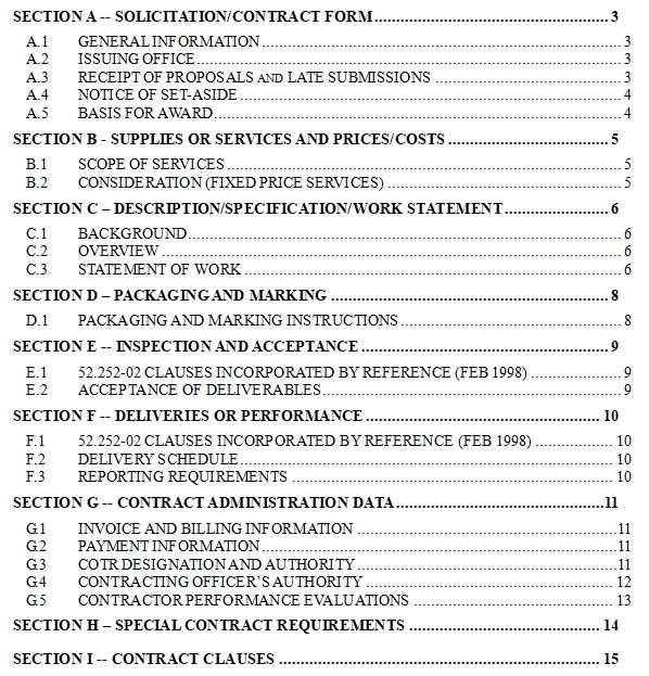 microsoft word table of contents template