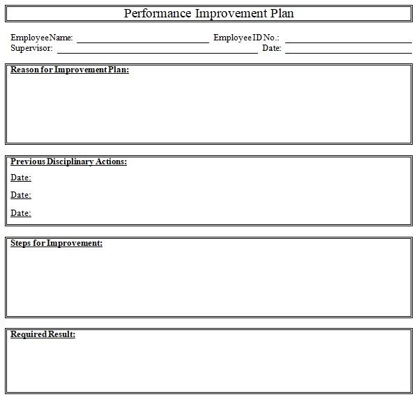 30 Free Performance Improvement Plan Template Word Excel Pdf
