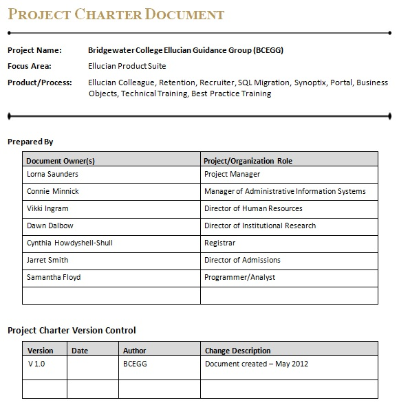 charter document example