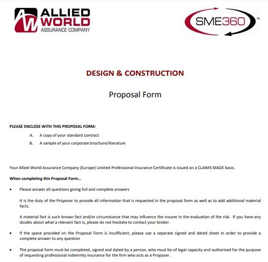 construction bid proposal form