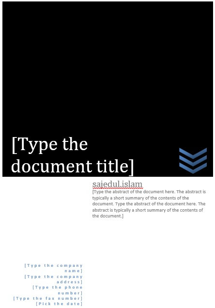 best cover page template