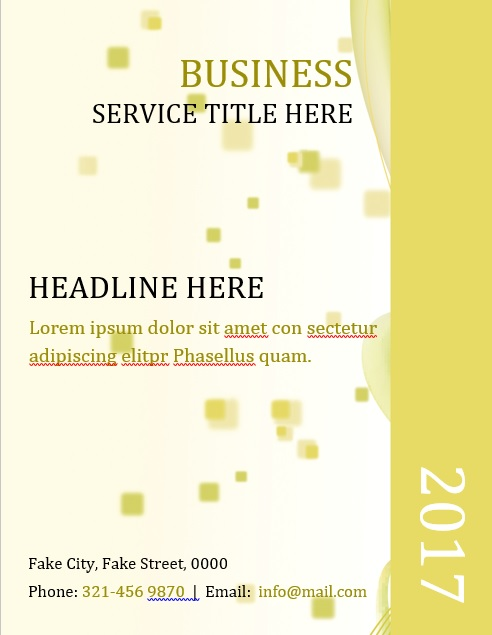 business service title template