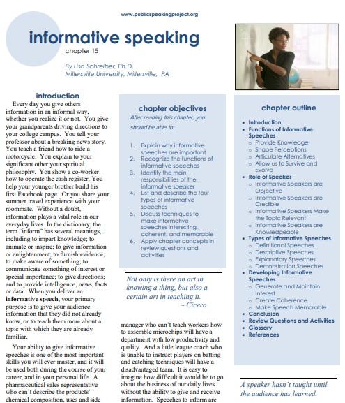 informative speaking example