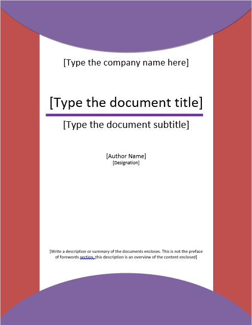 professional binder cover templates word