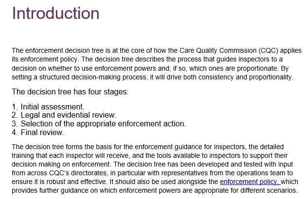 enforcement decision tree template