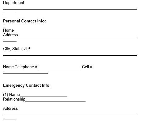 fillable employee emergency contact form
