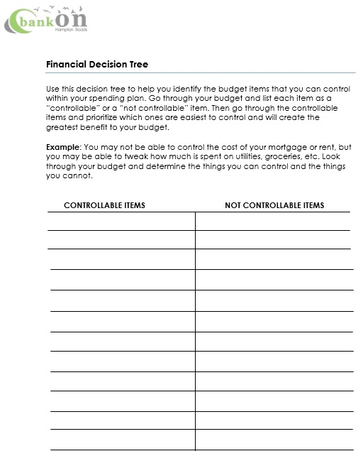 financial decision tree template