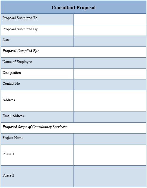 free consulting proposal template 1