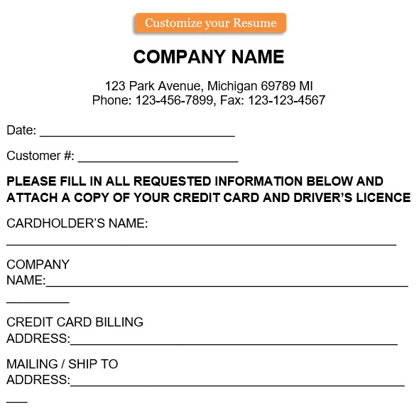 free credit card authorization form 4