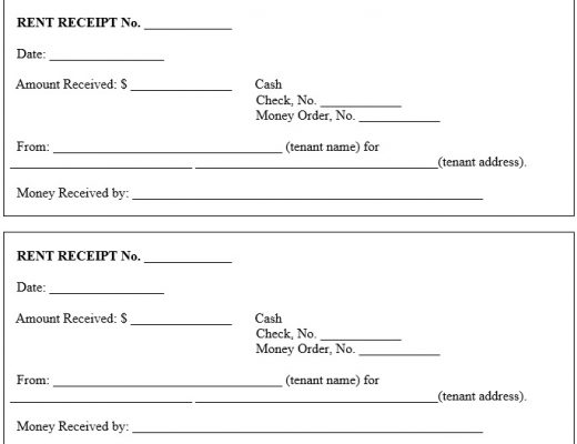 free rent receipt template 17