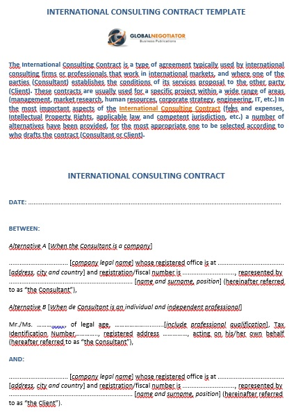 international consulting contract template