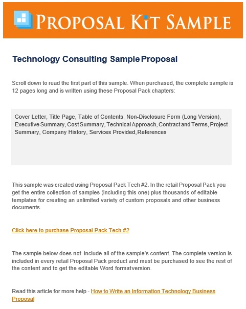 technology consulting proposal template