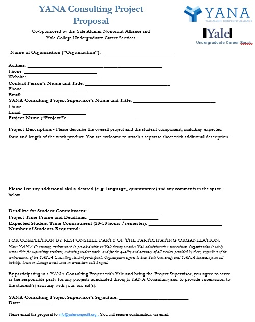 yana consulting project proposal template