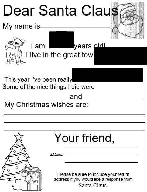 christmas letter for santa claus