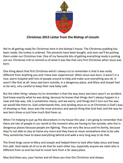christmas letter from the bishop