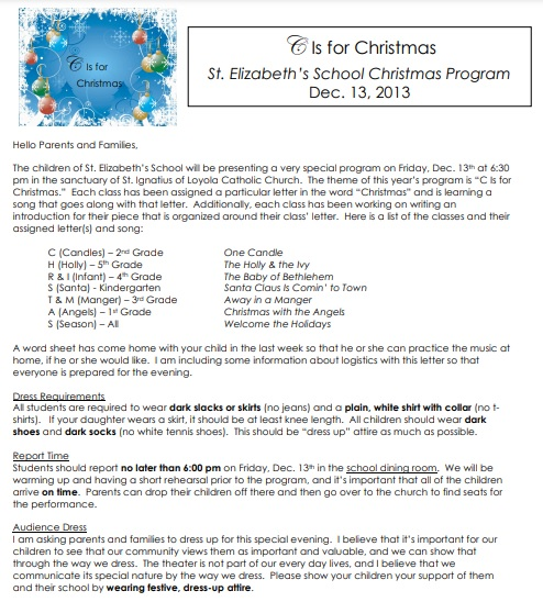 family christmas letter template