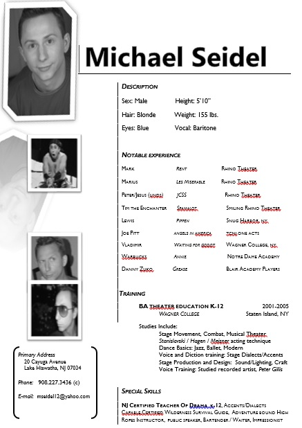free acting resume template 11