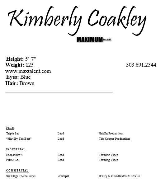 free acting resume template 12